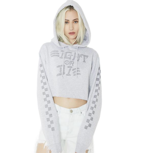 Rebel8 Eight Or Die Cropped Hoodie