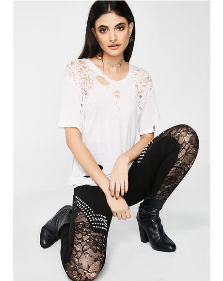 Sheer Genius Embellished Leggings