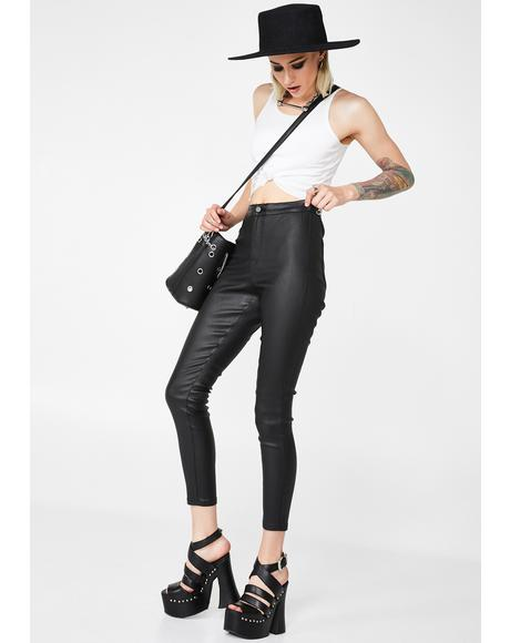 Matte Skinny Jeans