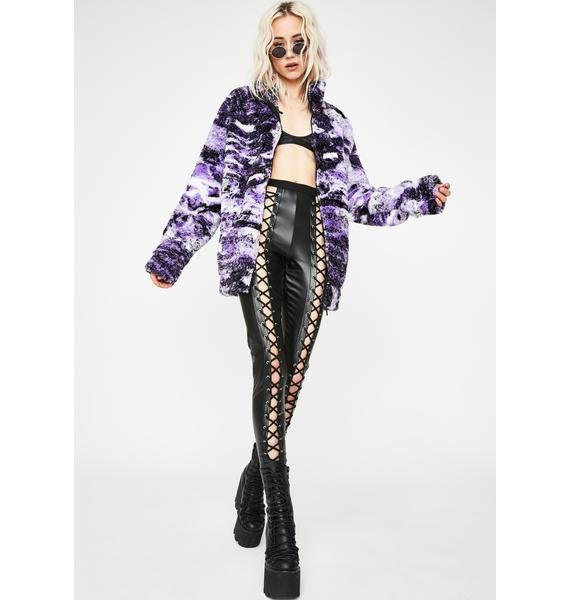 Jaded London Psychedelic Collage Borg Jacket