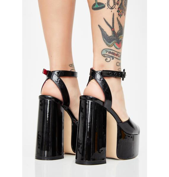 Lamoda Wicked Chick Flick Patent Heels
