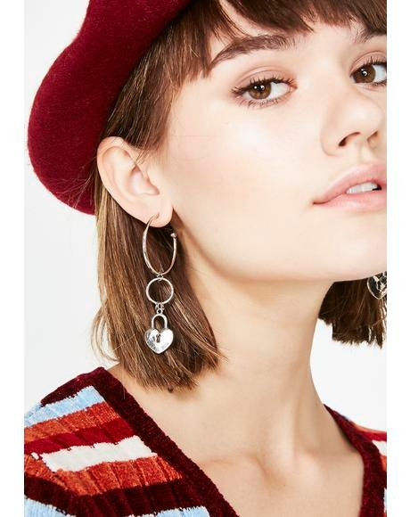 Love Locked Hoop Earrings