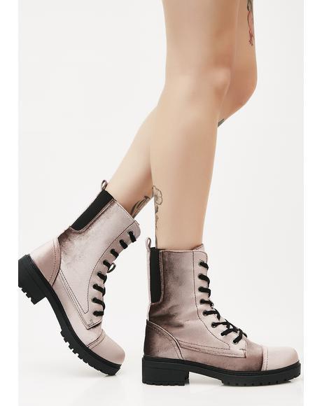Mauve Stomp Sesh Combat Boots