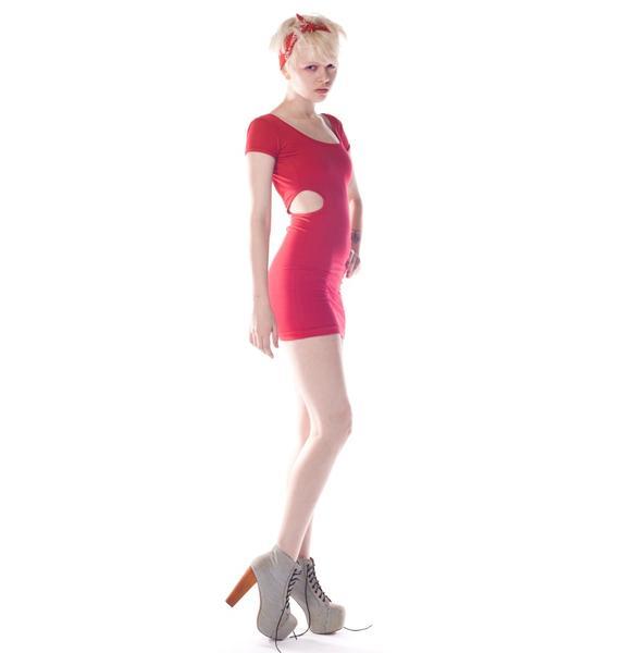 Quontum Peephole Cut Out Dress
