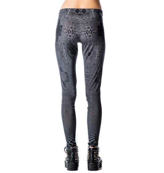 Lip Service Conspiracy Theory X-Ray Print Leggings