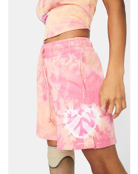 Sherbet Tie Dye Burl Lounge Shorts