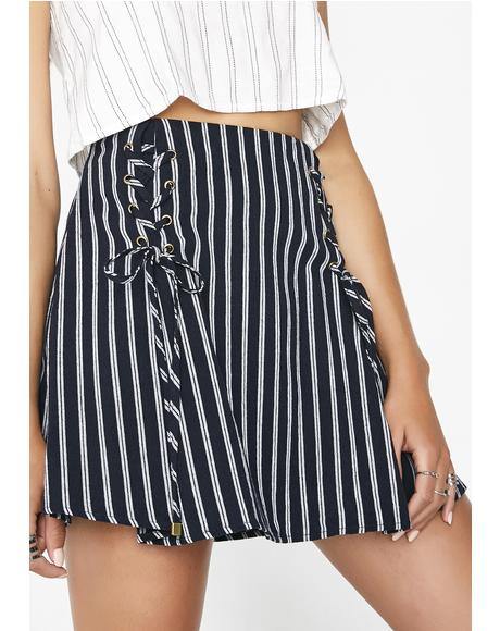 Take A Stroll Pinstripe Skirt