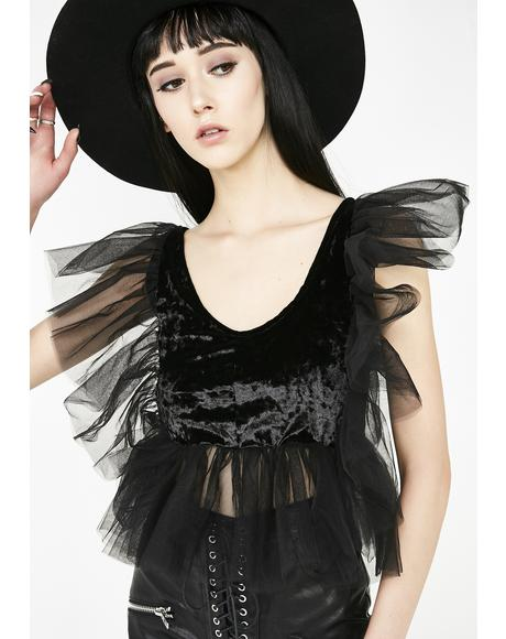 Sinners N' Saints Ruffle Top