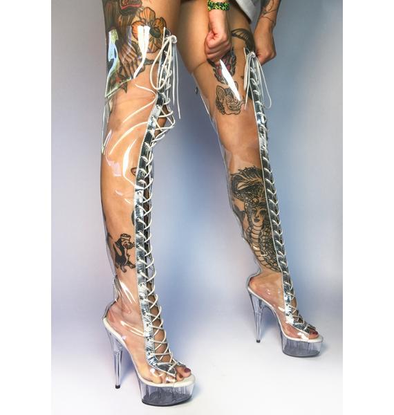 Pleaser Heaven's Gate Thigh High Boots