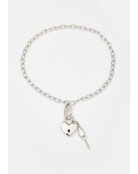 Love-Locked Memories Chain Necklace