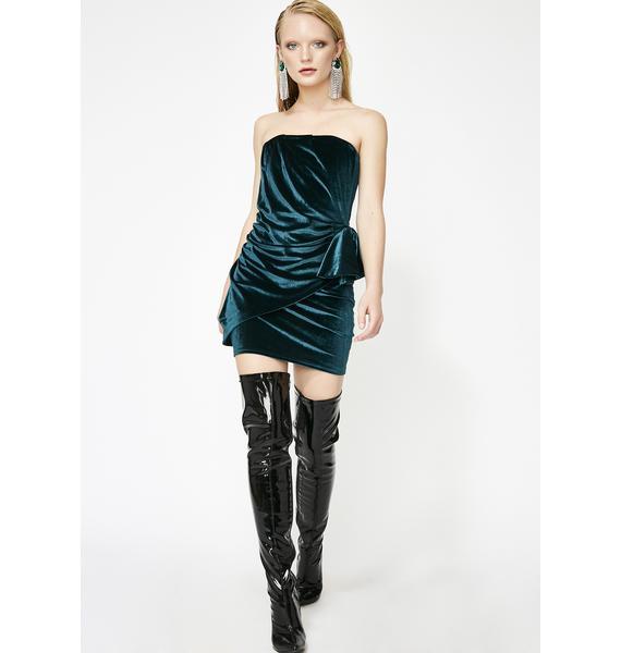 Magnetic Magic Velvet Dress