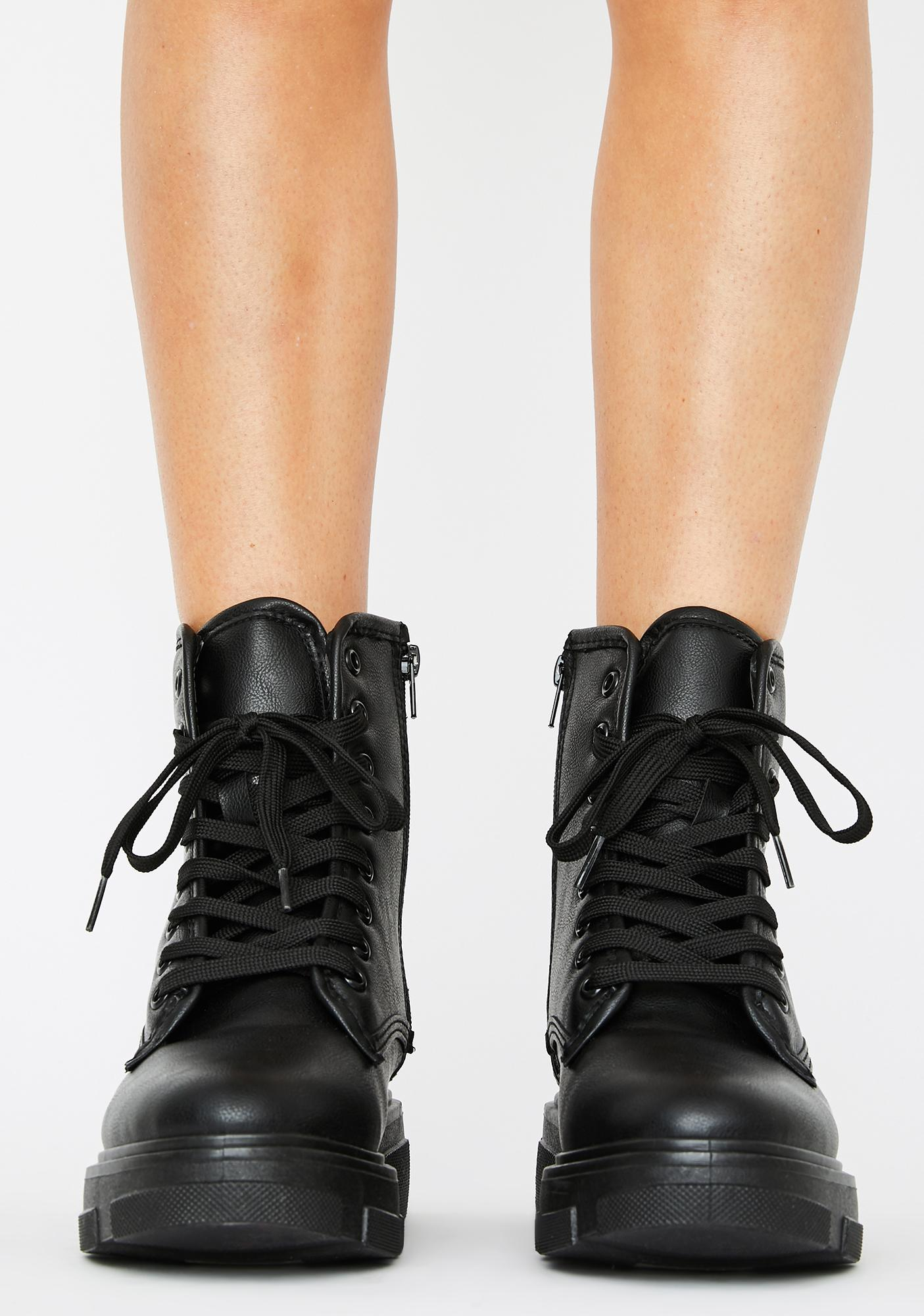 Chaos Commander Lace Up Booties