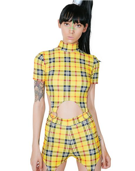 School Gurl Riot Garter Top