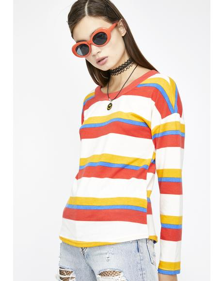 Jubilant Emotion Stripe Sweater
