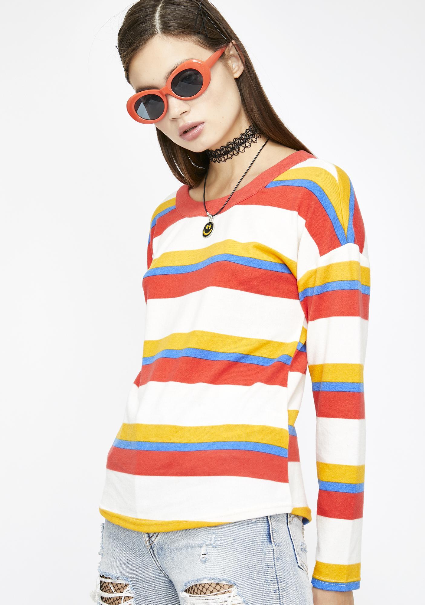 Jubilant Emotion Stripe Sweater