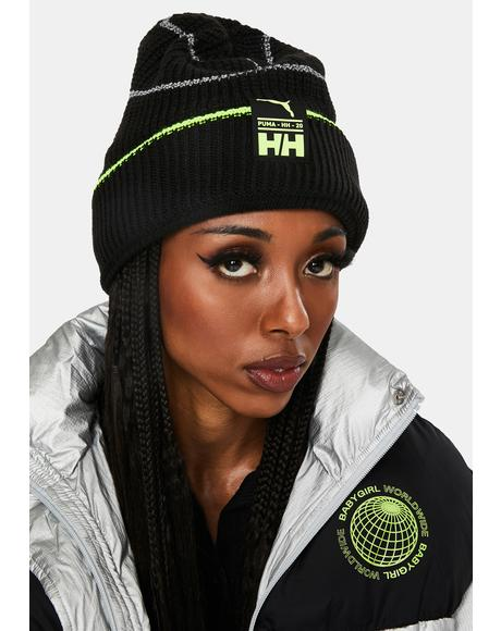 X Helly Hansen Black Beanie