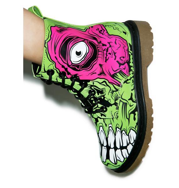 Iron Fist Zombie Stomper Combat Boots