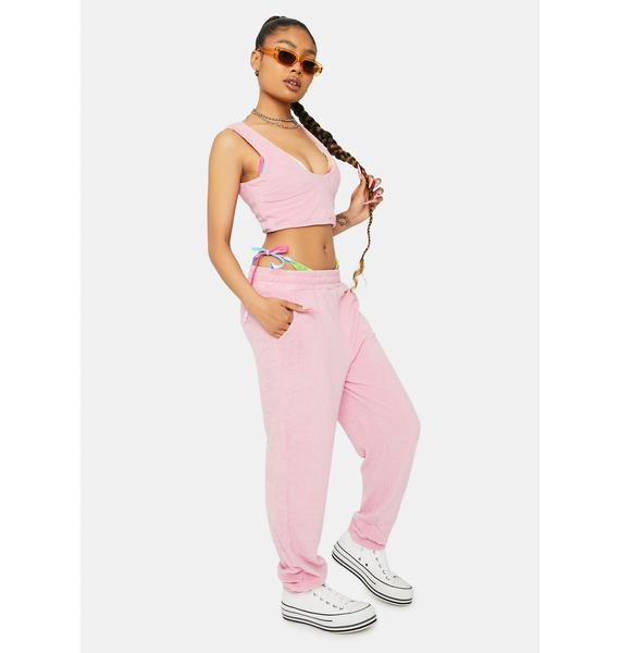 Blush Downtime Bliss Terry Tank Joggers Set