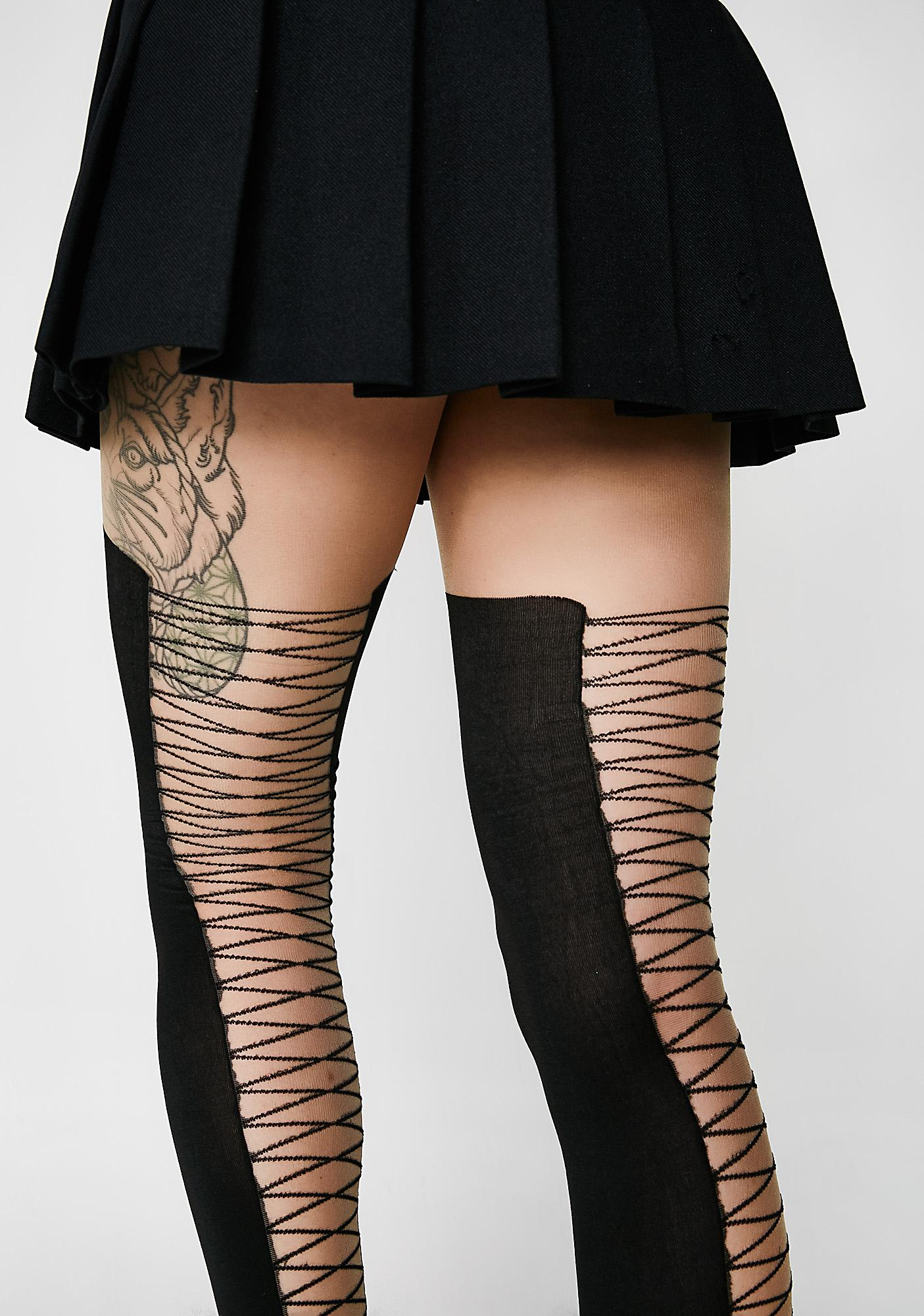 Get Me Laced Sheer Tights