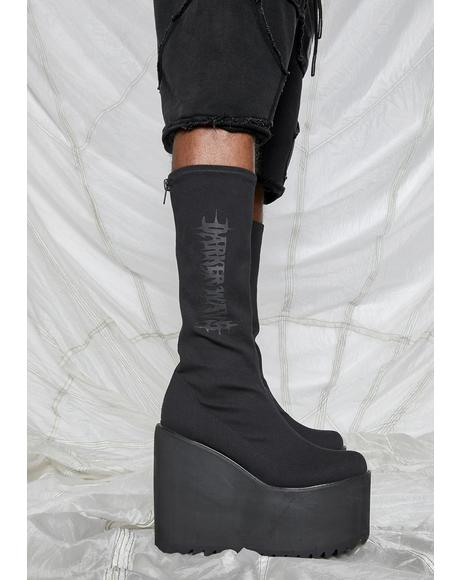 Synth Unisex Stretch Logo Traitor Boots