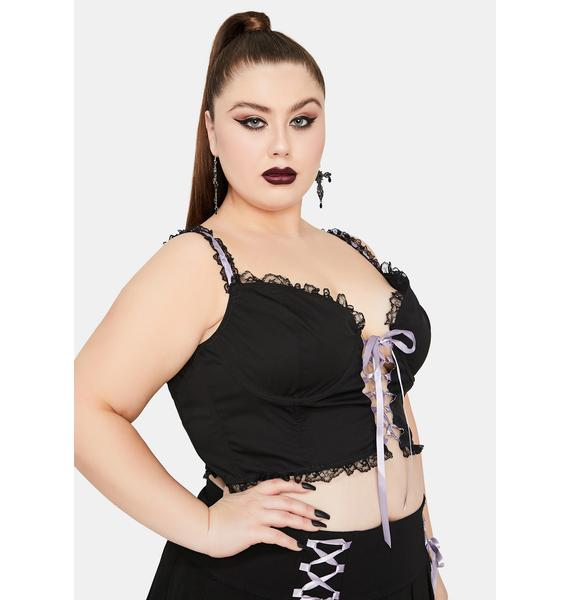 Widow Tale Of Minxes And Men Lace Up Bustier Top
