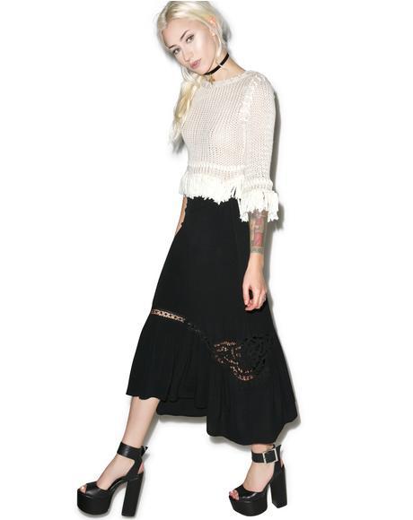 Noir Penelope Midi Skirt