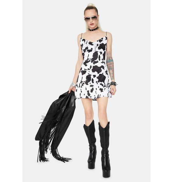 Swift Changes Cow Mini Dress