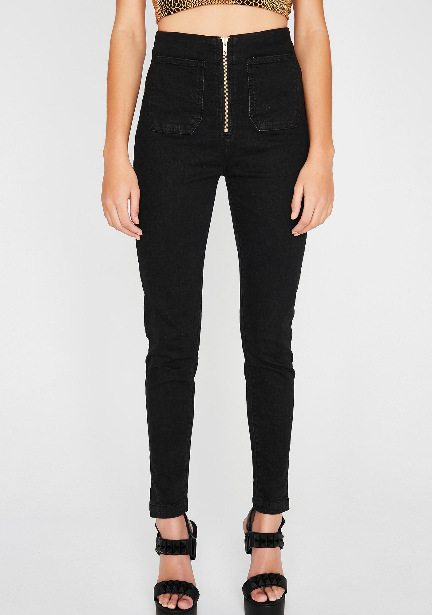 One N' Only Zip Jeans