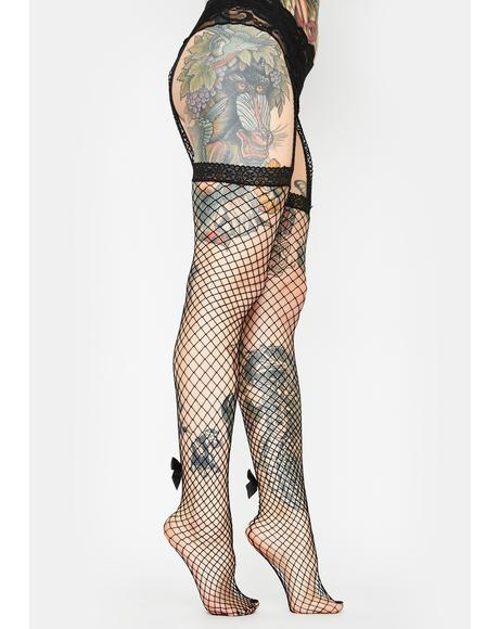 Good As Hell Garter Fishnets