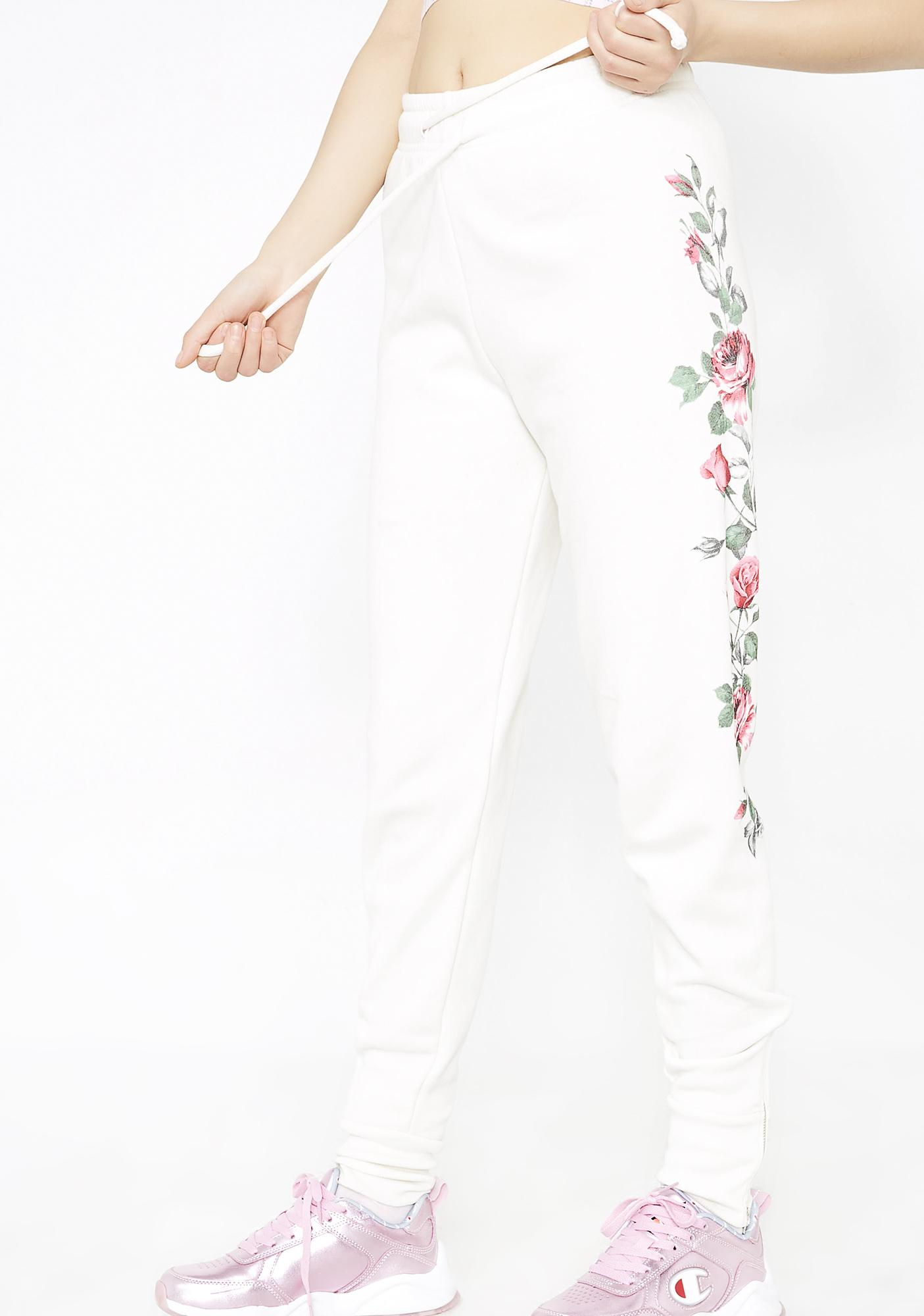Wildfox Couture Rosy Stems Zuma Joggers