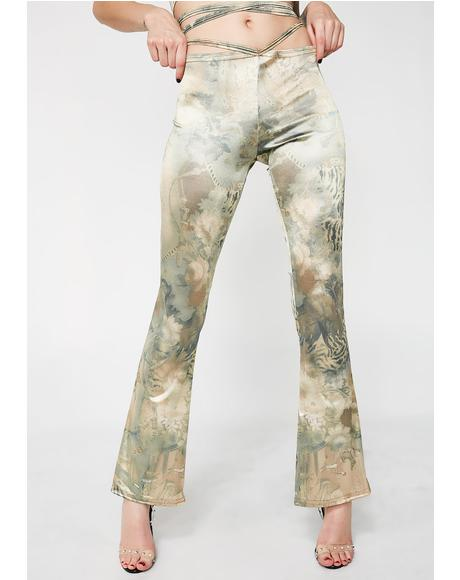 X Internet Girl Silk Road Satin Pants