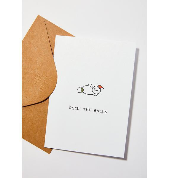 Ohh Deer Deck The Balls Christmas Card