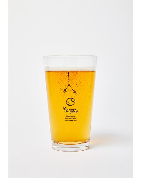 Cancer Star Sign Pint Glass