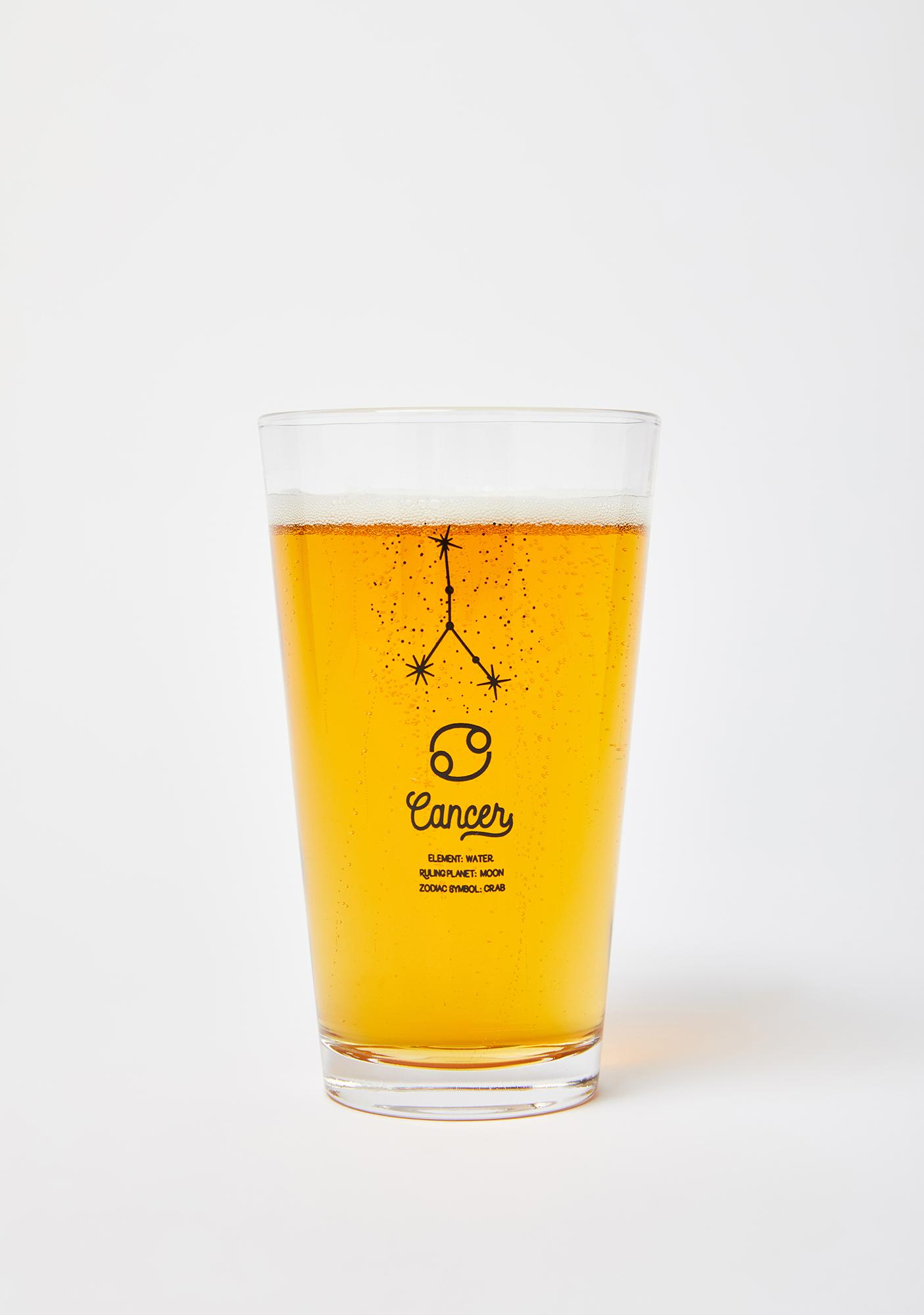 Femfetti Cancer Star Sign Pint Glass