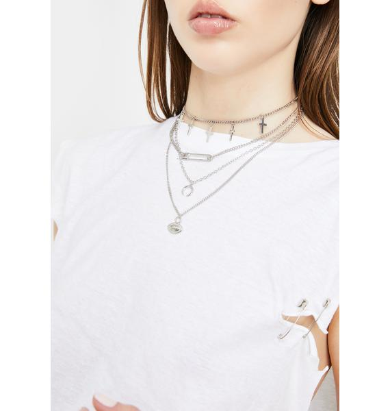 She's Bad News Layered Necklace