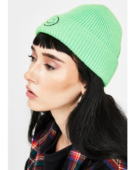 Slime Totally Happy Ribbed Beanie