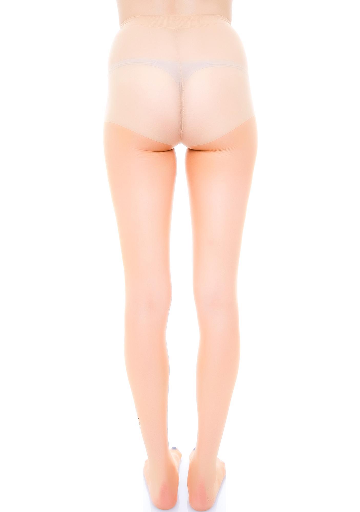Spandex Sheer Tattoo Print Pantyhose