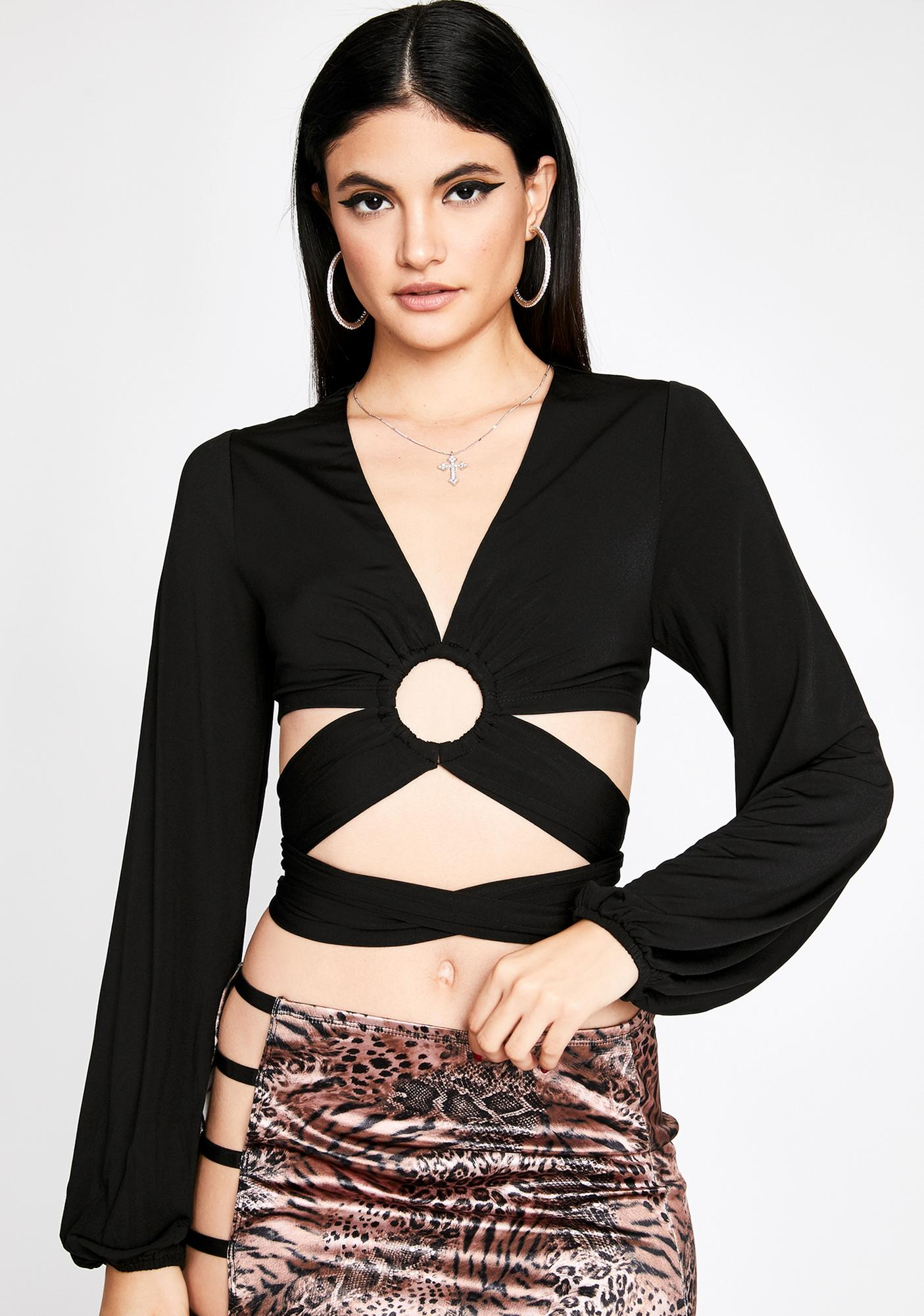 Bad Boys Only Wrap Top
