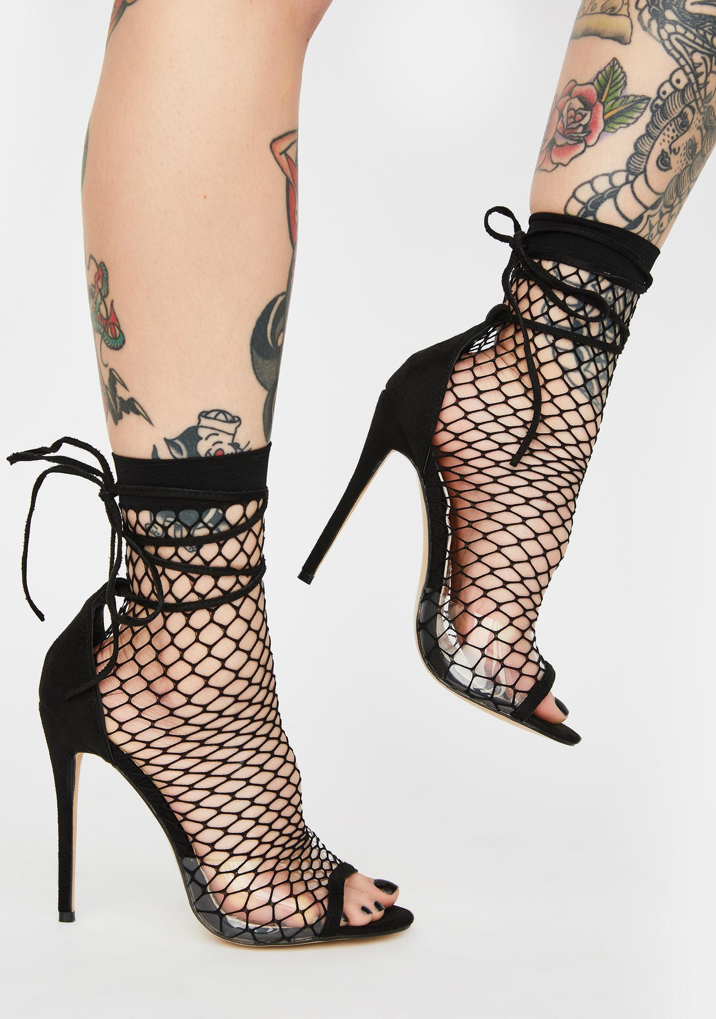 Public Desire Midnight Sunrise Fishnet Heels