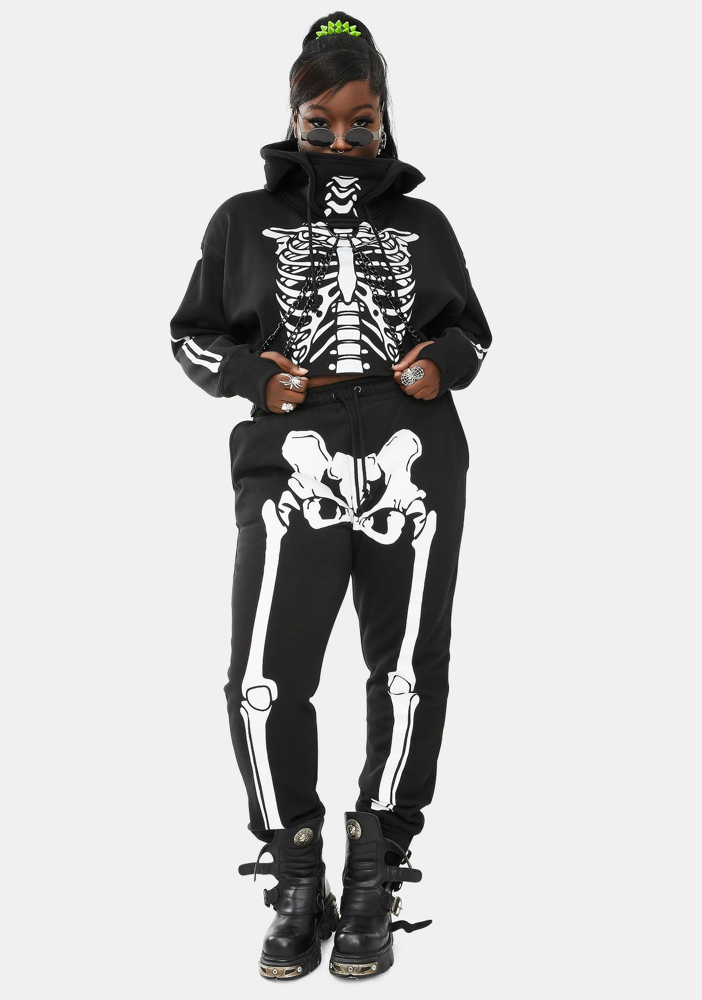 Trickz & Treatz We'll Wake The Dead Skeleton Joggers