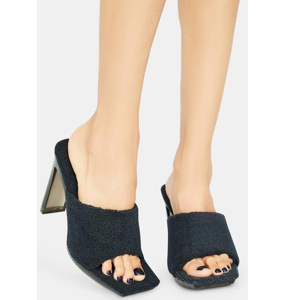 Dark When I Come Around Terry Peep Toe Heels