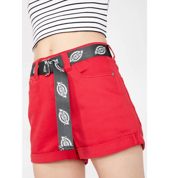 Dickies Girl Shortie Roll Cuff Shorts