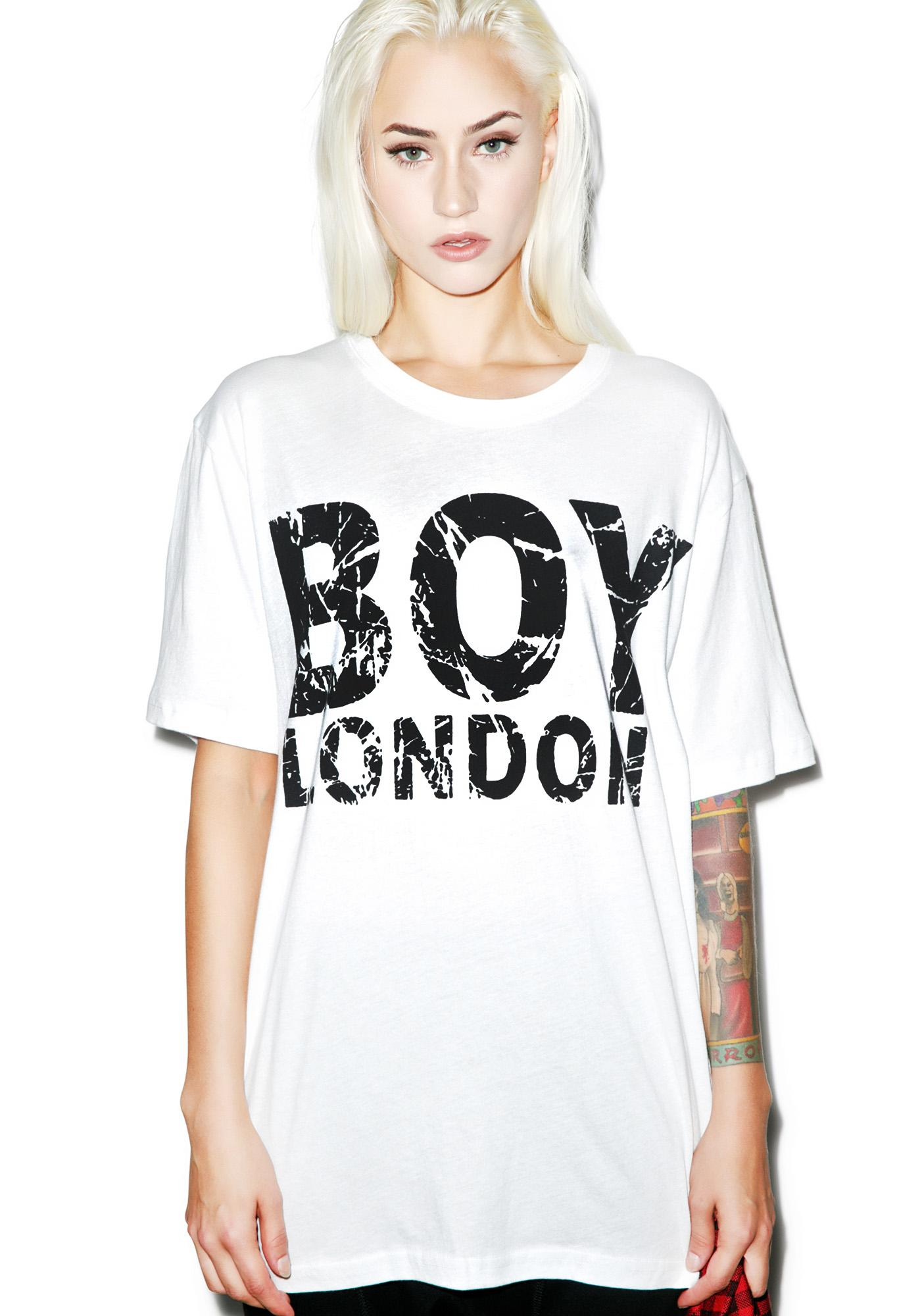 BOY London Distressed London Standard Tee