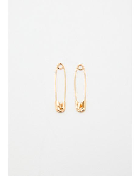 Goldie On The Scene Safety Pin Earrings