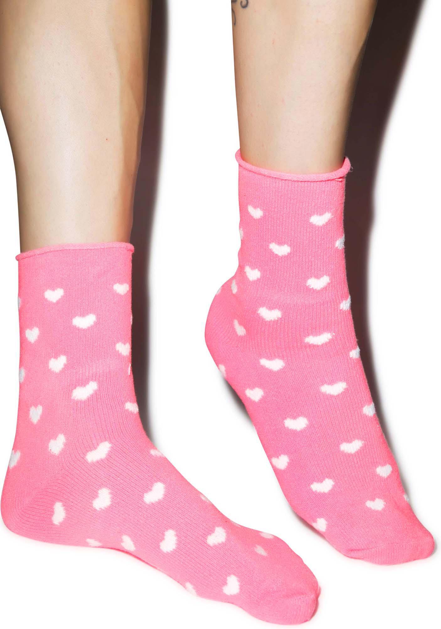 Plush Head Over Heels Fleece Socks
