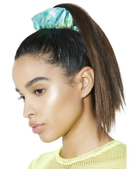 Aqua Mermaid Light-Up Scrunchie