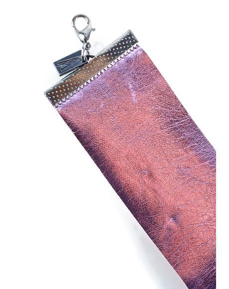 Metallic Pink Choker