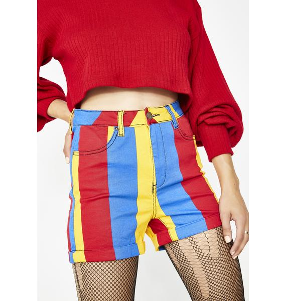 Primary Interest Striped Shorts