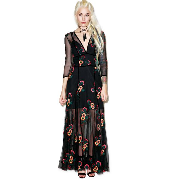 For Love & Lemons Elenora Maxi Dress