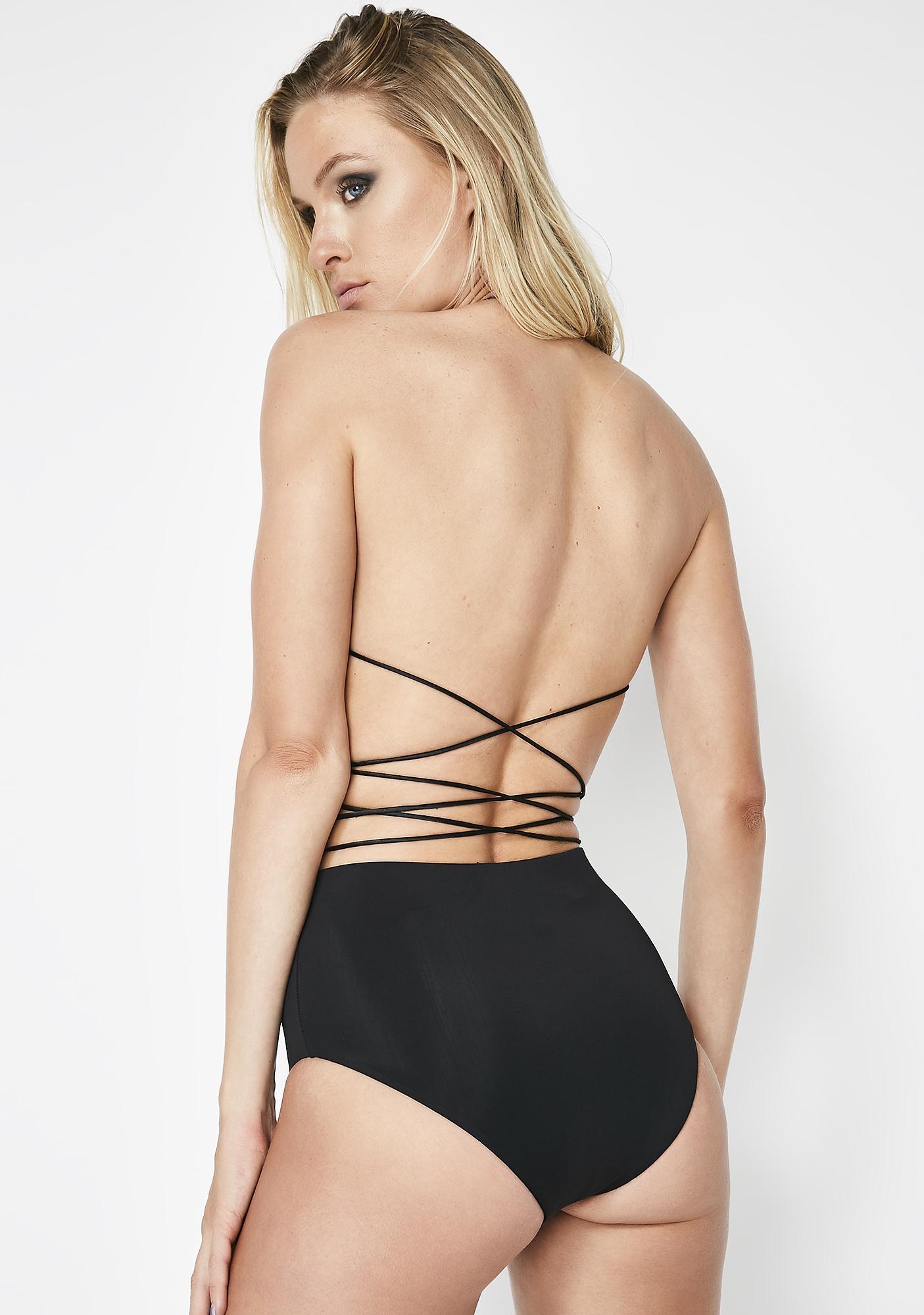 Kiki Riki Wink Wink Lace Up Shorts